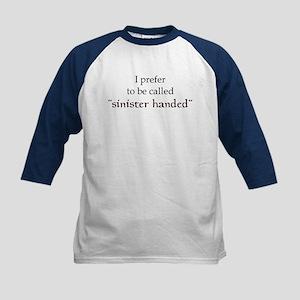Sinister Handed Kids Baseball Jersey