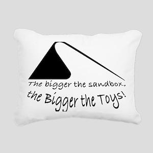 Bigger Sandbox BLACK Rectangular Canvas Pillow