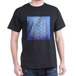 flower of life/gold on blue Dark T-Shirt
