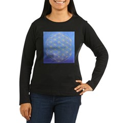 flower of life/gold on blue T-Shirt