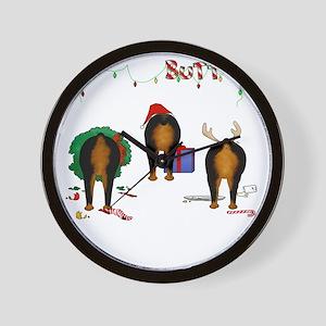 RottieShirtTrans Wall Clock