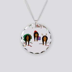 RottieShirtTrans Necklace Circle Charm