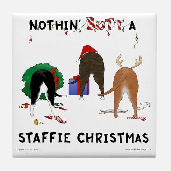 StaffieShirt Tile Coaster