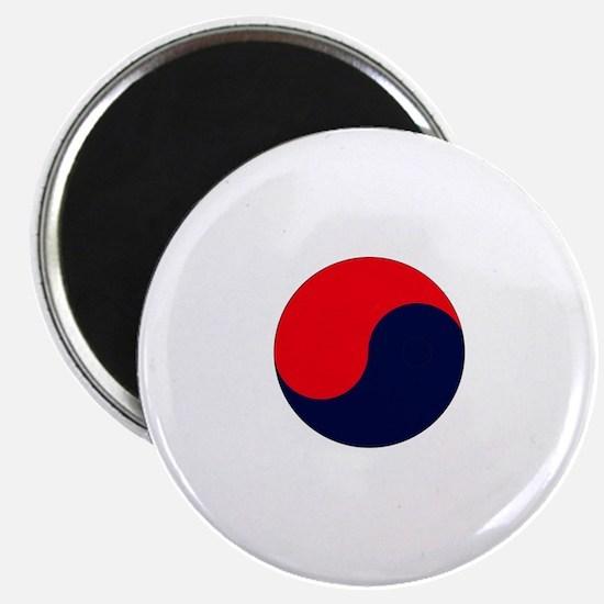 TKD Future Black Belt White Letter Um-Yang  Magnet