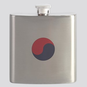 TKD Future Black Belt White Letter Um-Yang  Flask