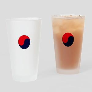 TKD Future Black Belt White Letter  Drinking Glass