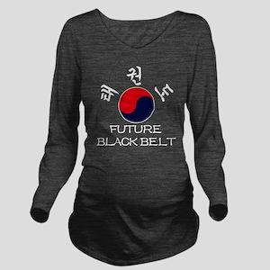 TKD Future Black Bel Long Sleeve Maternity T-Shirt