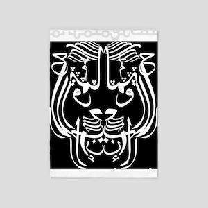 ontol anarch arabic lionBLACKSHIRT 5'x7'Area Rug