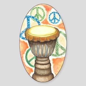 Peace Through Music Sticker (Oval)