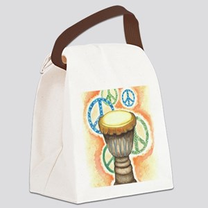 Peace Through Music Canvas Lunch Bag