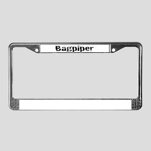 Bagpiper (Hardcore) License Plate Frame