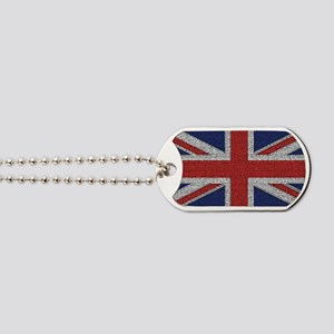 British Flag Tattered Dog Tags