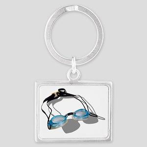 SwimmingGoggles091210 Landscape Keychain