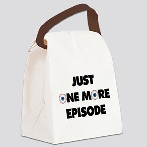 Just One More Episode Canvas Lunch Bag