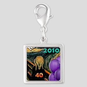 comic402 Silver Square Charm