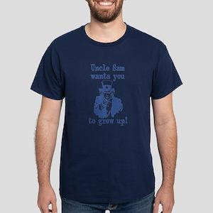 Uncle Sam says, Grow Up! Dark T-Shirt