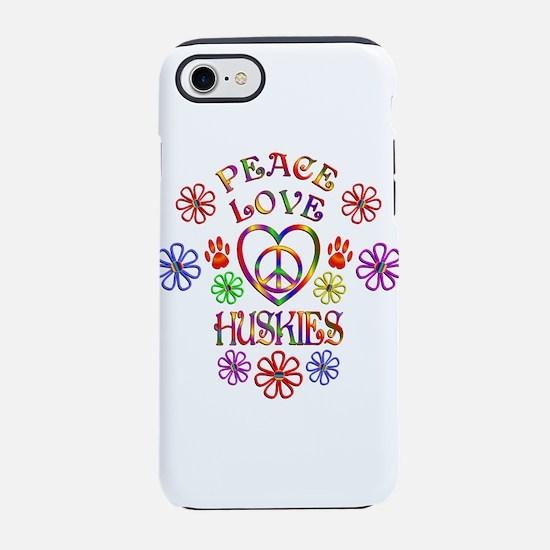 Peace Love Huskies iPhone 7 Tough Case