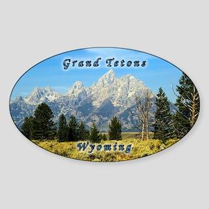 Grand Tetons Sticker (oval)