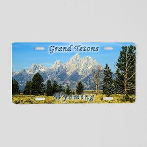 Grand Tetons Aluminum License Plate