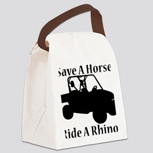 Save Horse BLACK Canvas Lunch Bag