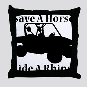 Save Horse BLACK Throw Pillow