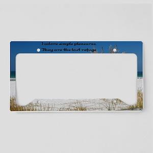 Simple Pleasures12x18 License Plate Holder