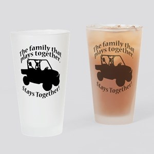 Family Plays BLACK Drinking Glass