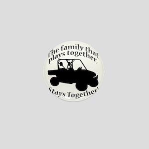 Family Plays BLACK Mini Button