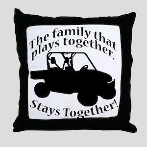 Family Plays BLACK Throw Pillow