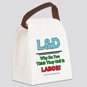 2-Why Do You Think They Call It L Canvas Lunch Bag
