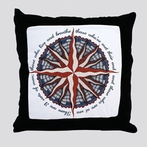 compass-rose4-LTT Throw Pillow