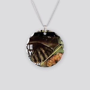 The Day the Earth Stood Stil Necklace Circle Charm