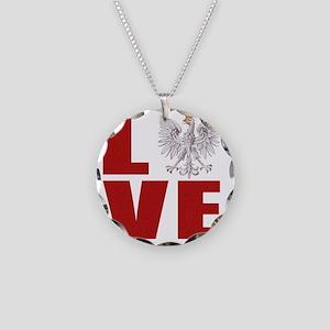 polish love Necklace Circle Charm