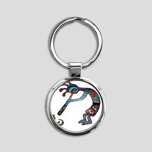 Kokopelli_0315 Round Keychain