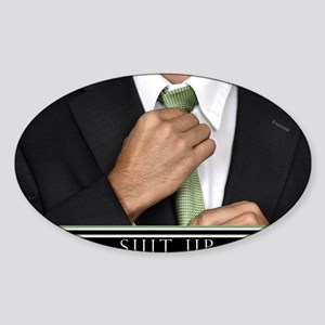 23x35_suit_up_new Sticker (Oval)