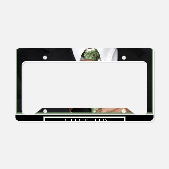 23x35_suit_up_new License Plate Holder