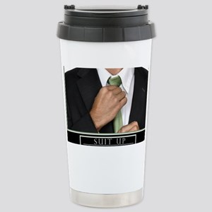 23x35_suit_up_new Stainless Steel Travel Mug