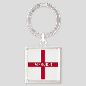 KB English Flag - England Perl Square Keychain