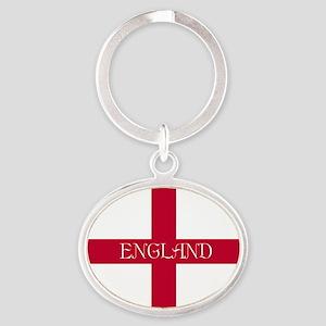 PC English Flag - English Anglican Oval Keychain