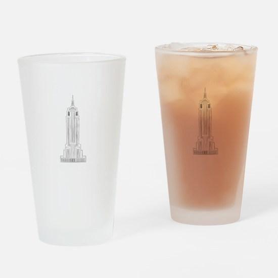 NEW YORK EMPIRE STATE dark Drinking Glass
