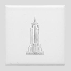 NEW YORK EMPIRE STATE dark Tile Coaster