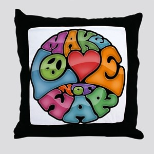 make-love-col-T Throw Pillow