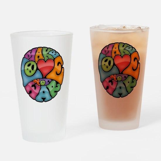 make-love-col-T Drinking Glass