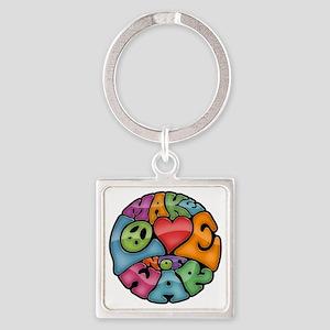 make-love-col-T Square Keychain
