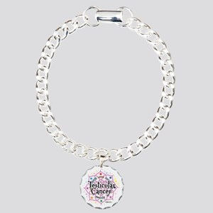 Testicular-Cancer-Lotus Charm Bracelet, One Charm