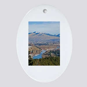 Missoula Valley Oval Ornament