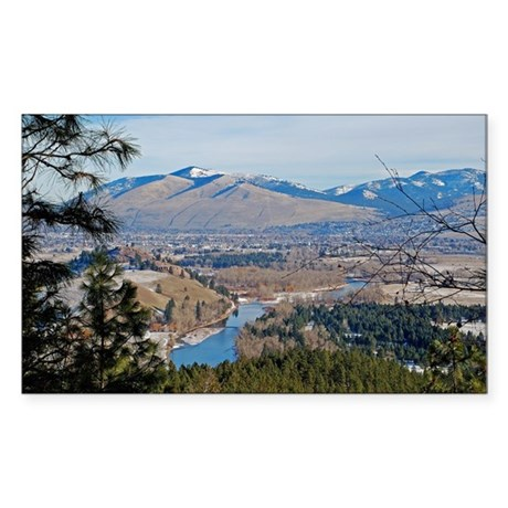 Missoula Valley Rectangle Sticker