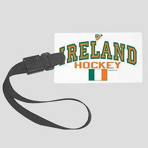 Ireland hockey 5_H_F 11-7-2007 p Large Luggage Tag