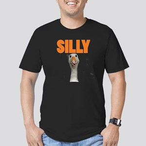 SillyGoose Men's Fitted T-Shirt (dark)