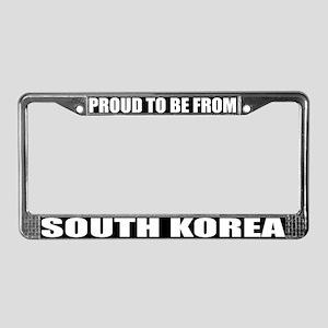South Korea License Plate Frame